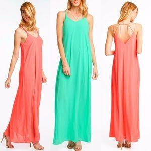 NWT Coral Summer Dress M